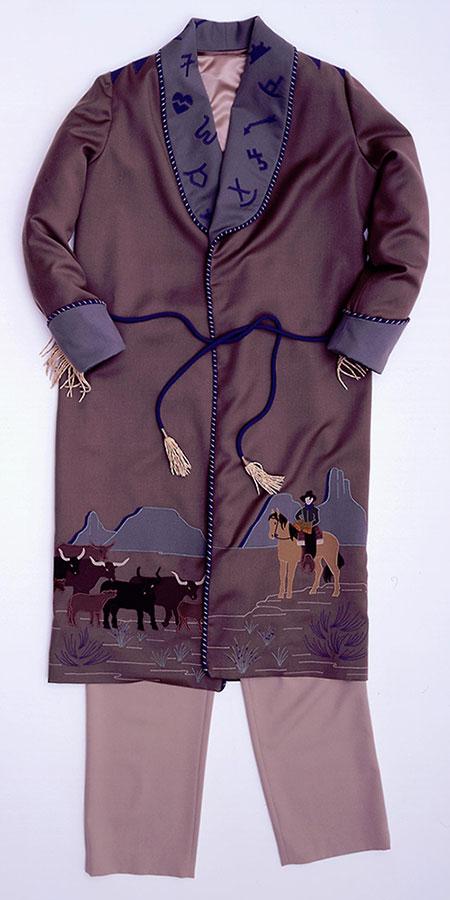 """""""Purple Sage Smoking Jacket"""" (1997) by Anne Beard of Heppner, Oregon. 1.69.5651.1"""