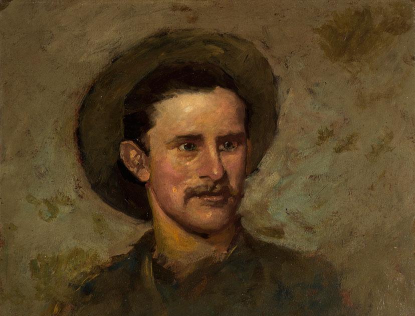 Proctor self-portrait. 2.16.9 (detail)