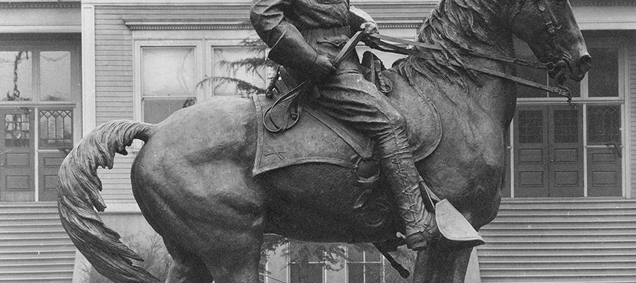 The completed statue was installed across the street from the Ladd School in Portland, Oregon, whose 800 students lobbied the site selection committee in favor of this location. P.242.1055