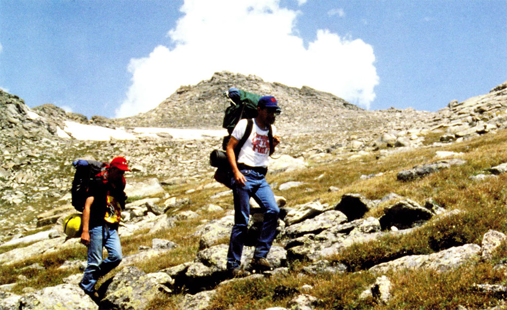 Hiking in Beartooth Mountains. National Park Service photo.