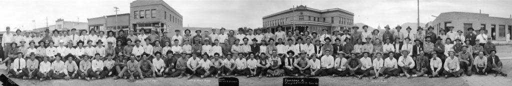 K Company, Newly formed, Cody, Wyoming (July 1917)