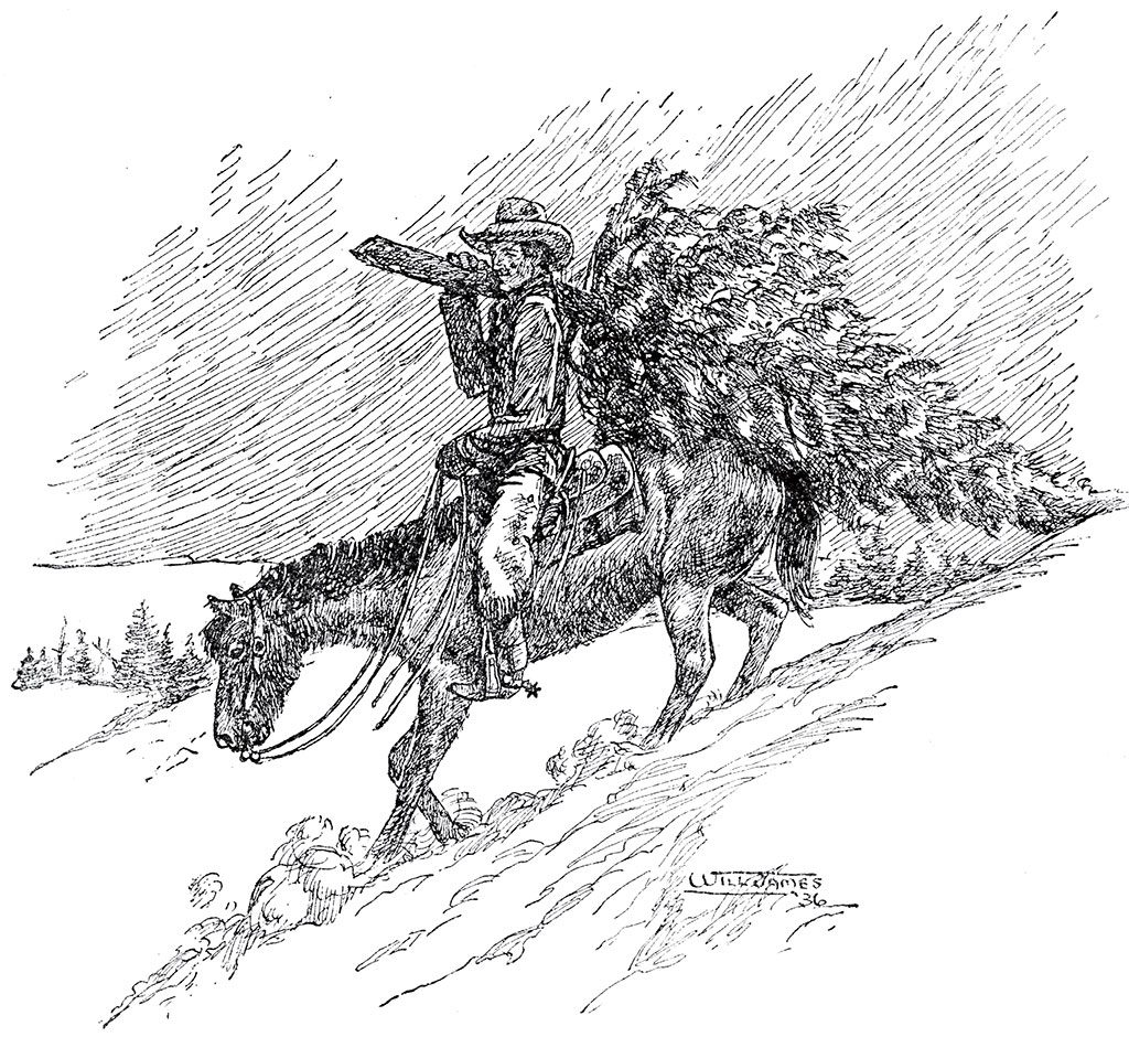 Will James sketch, undated. Willis McDonald IV Collection.