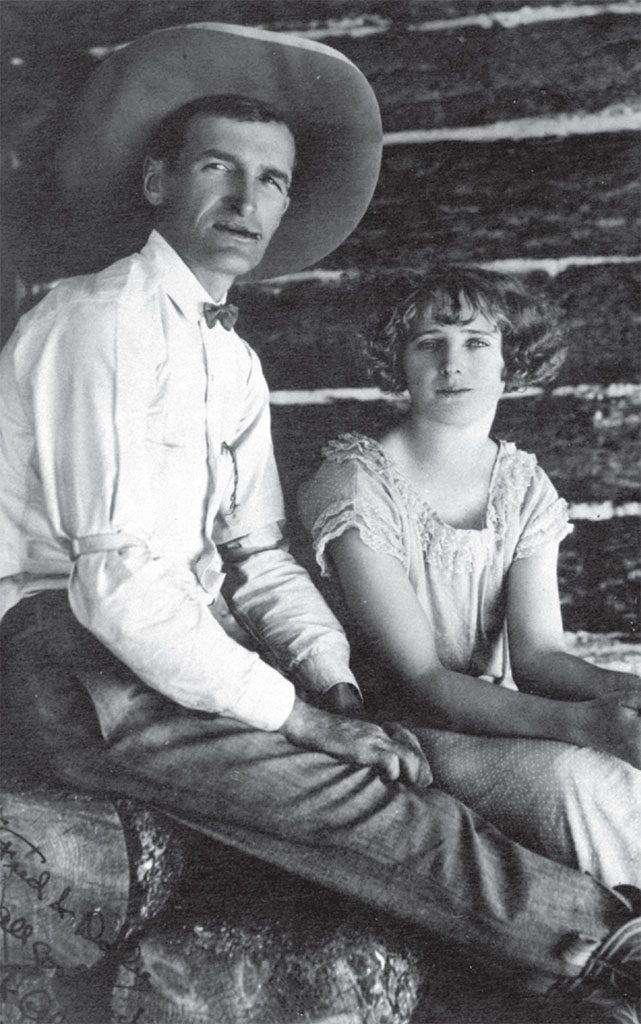 Will and Alice James, ca. 1920. Willis McDonald IV Collection.
