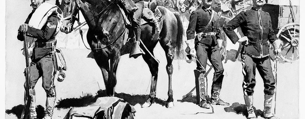 This untitled ink wash drawing, apparently from 1894, was submitted for examination in 2004, and the opinion rendered was that it was an original work by Frederic Remington. Image provided by the Remington catalogue raisonné.