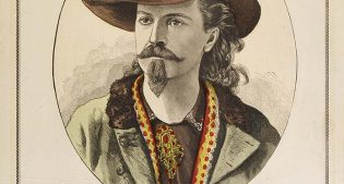 """Poster for """"Knight of the Plains,"""" 1879. our-color lithograph, 20.875 x 12.625 inches. 1.69.38"""