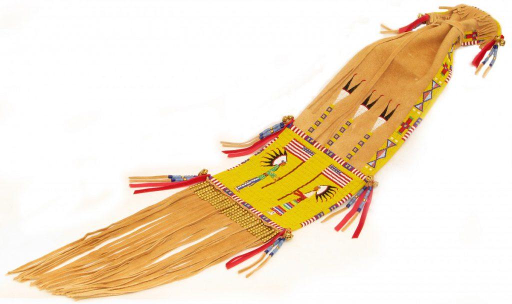 Pipe bag, 2013. Blackfeet, Plains Cree, Arikara, Hidatsa. In Honor and Loving Memory of Ernest F. Fuller from Family and Friends. NA.504.490