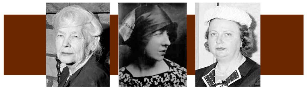 "Mary Jester Allen, Gertrude Vanderbilt Whitney, Margaret ""Peg"" Coe"