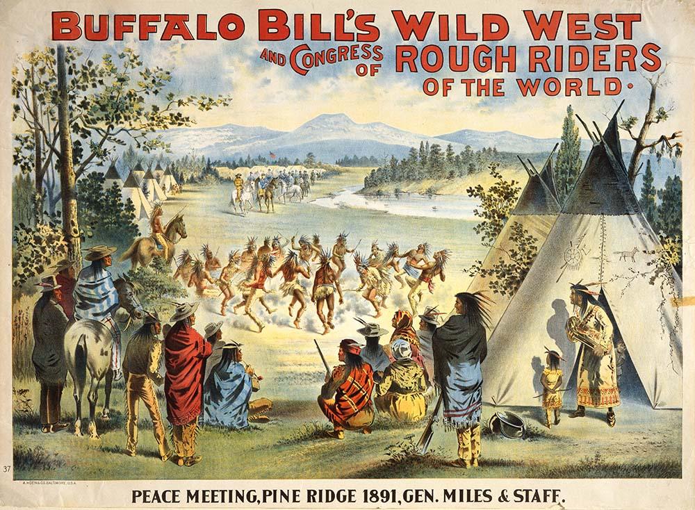 Peace Meeting, Pine Ridge 1891, Gen. Miles and Staff, A. Hoen & Co., Baltimore, MD, ca 1895. Original Buffalo Bill Museum Collection. 1.69.406