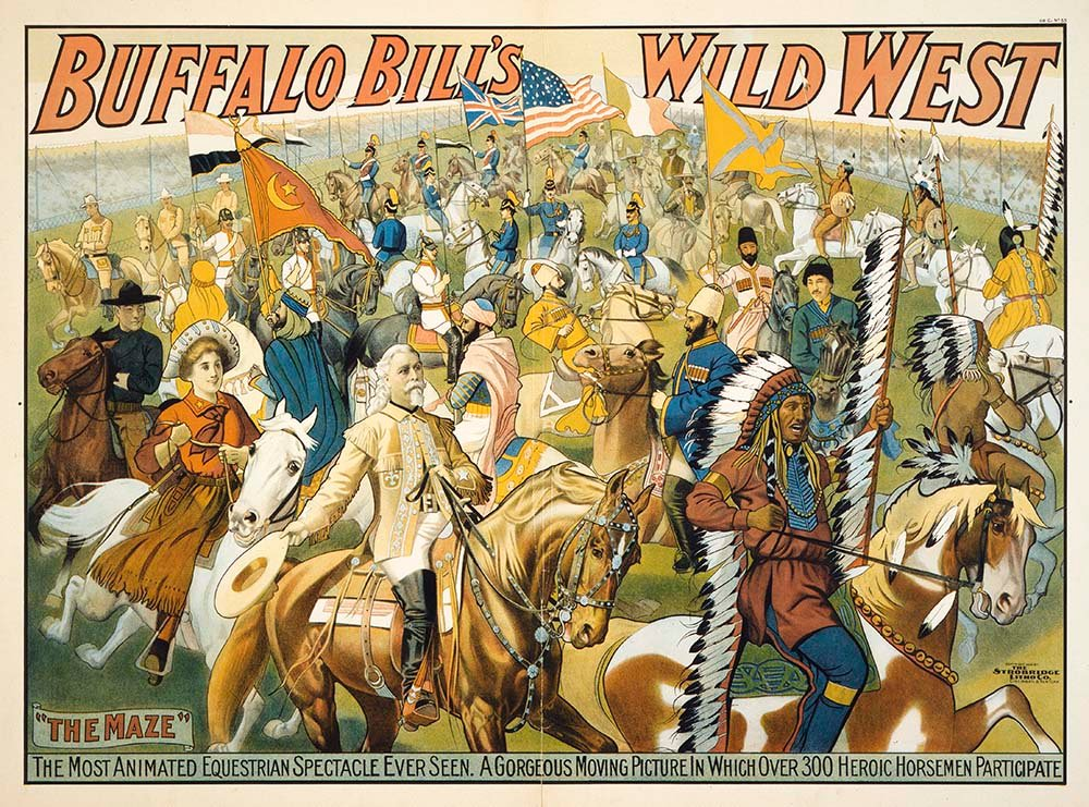 The Maze, Buffalo Bill's Wild West poster, 1908. Gift of The Coe Foundation. 1.69.74