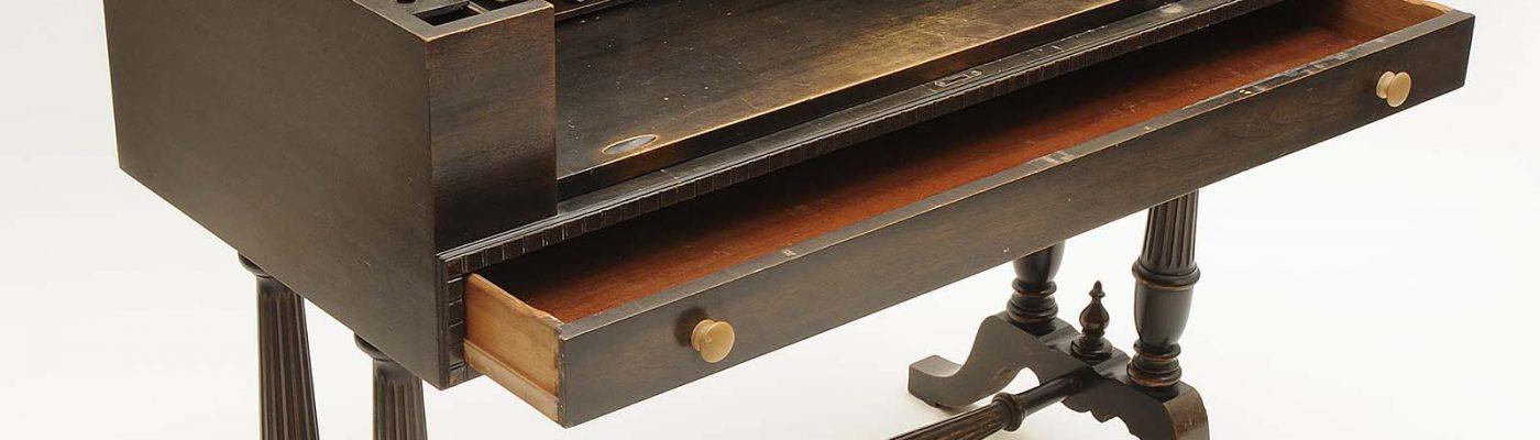 Nate Salsbury's traveling desk, mahogany, ca. 1898–1905. 1.69.1788