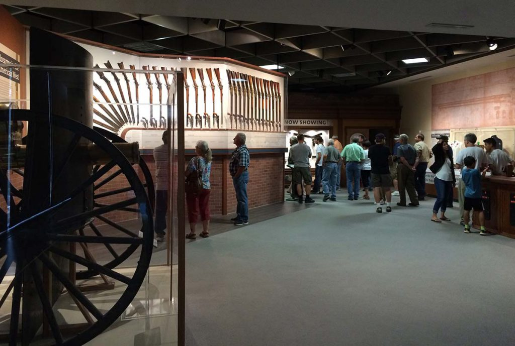 "Pictured here are recent visitors to the Cody Firearms Museum pre-renovation. They are sure to marvel on their return visit to the ""new"" CFM."