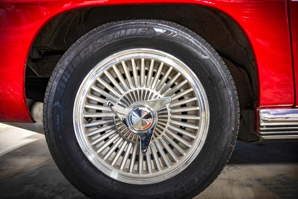 1964 Corvette convertible detail, wheel