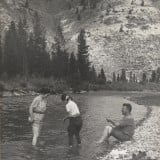 Photo album of Frank, Gladys, and Lois Pease traveling from Minnesota to Yellowstone National Park in the 1930s.