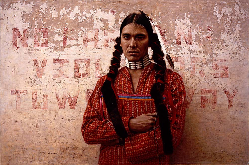 "James Bama (b. 1926). ""A Contemporary Sioux Indian,"" 1978. Oil on panel. William E. Weiss Contemporary Art Fund Purchase. 19.78"