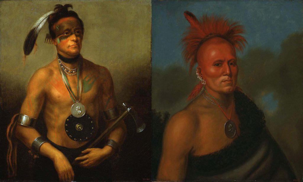 Henry Inman (1801-1846), Hoo-Wan-Ne-Ka (Little Elk), 21.95.1; and Shar-I-Tar-Ish, 21.95.2. Both 1832. Oil on canvas. Gifts of Allen & Company Incorporated.