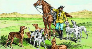 "From book cover, Brian Patrick Duggan's ""General Custer, Libbie Custer and Their Dogs"""