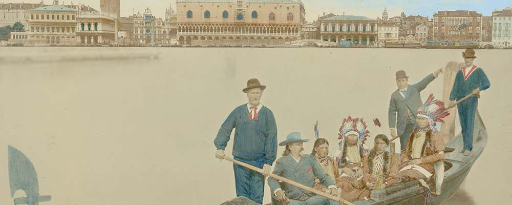 Buffalo Bill and American Indian Wild West performers in Venice. P.69.0822