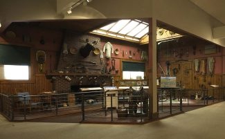 Frederic Remington Studio exhibit in the Whitney Western Art Museum.