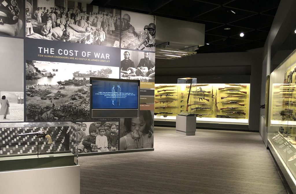 """The Cost of War"" section in the new Cody Firearms Museum. June 2019."