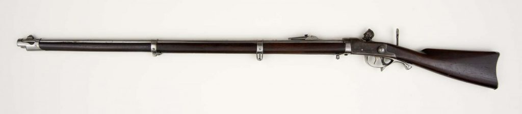 Breech-loading percussion rifle with Lincoln head hammer designed by Hiram Berdan, ca. 1863. Buffalo Bill Center of the West, Cody, Wyoming, USA. Gift of Olin Corporation, Winchester Arms Collection. 1988.8.1241