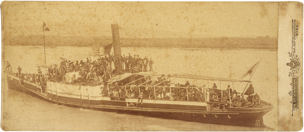 Wild West show on a boat in Vienna, ca. 1906. Gift of Mrs. W.F. Schensley. P.69.1122
