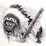 Loren Entz (b. 1949). Joe Medicine Crow, 2005. Pencil on paper. Gift of Mr. and Mrs. W.D. Weiss. 2.05