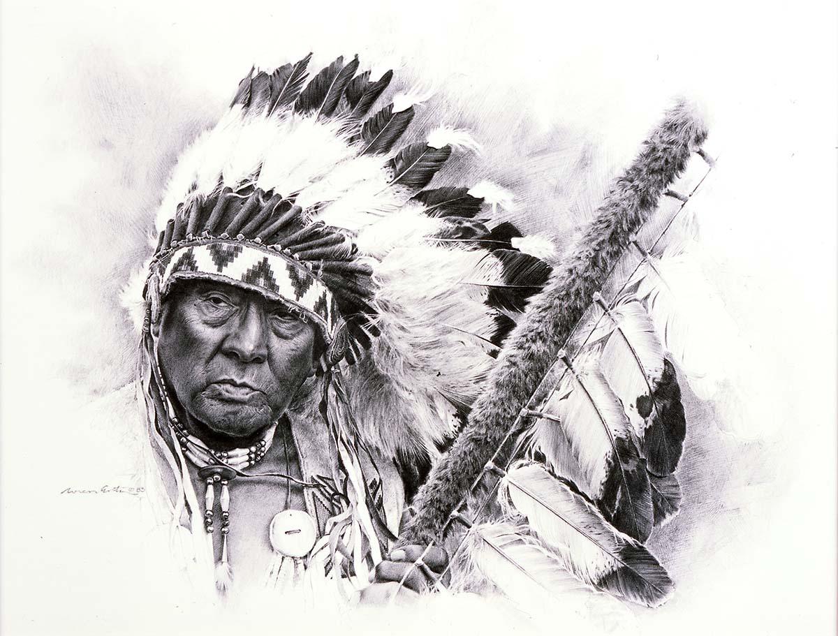 Loren Entz (b. 1949). Joe Medicine Crow, 2005. Pencil on paper. Gift of Mr. and Mrs. W.D. Weiss. 2.05