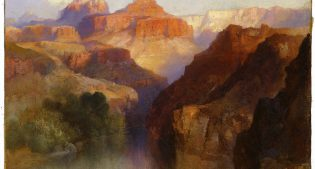 Thomas Moran (1837–1926). Zoroaster Peak (Grand Canyon, Arizona), 1918. Oil on canvas, 9 x 12 inches. Purchased by the Board of Trustees in honor of Peter H. Hassrick. 11.96