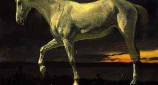 White Horse and Sunset, 1863. Oil on board. Gift of Carman H. Messmore. 2.62