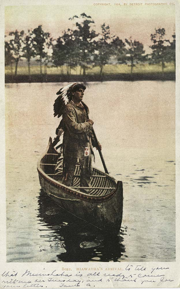 """An illustration of Longfellow's """"Hiawatha."""" New York Public Library Digital Collection. The Miriam and Ira D. Wallach Division of Art, Prints and Photographs: Photography Collection 67510"""