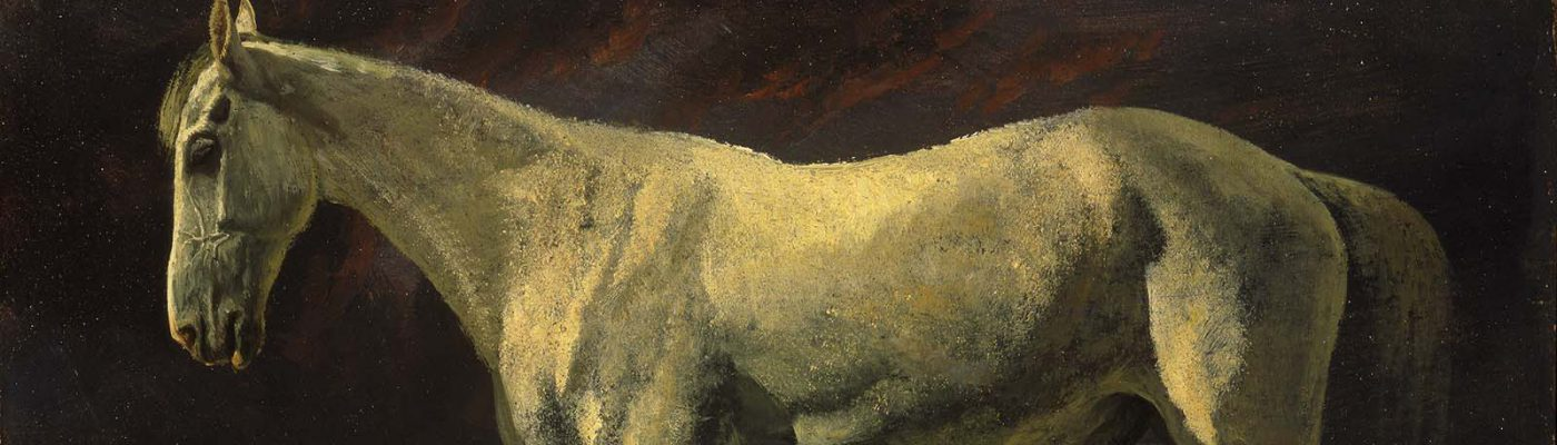 Albert Bierstadt's White Horse and Sunset. 2.62 (detail)