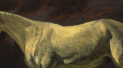 Albert Bierstadt's White Horse and Sunset. 2.62 (detail)