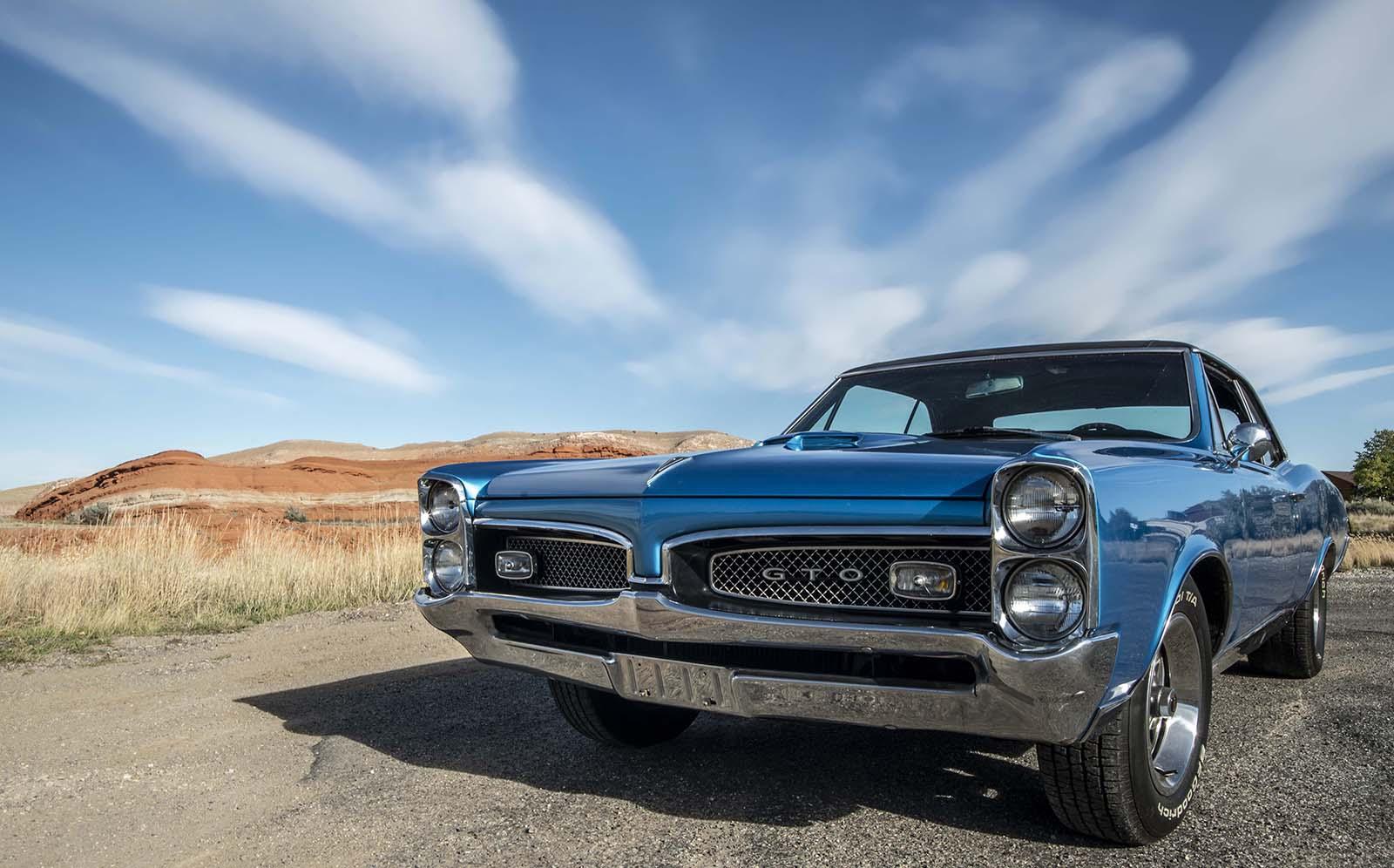 Pontiac GTO raffle car. Photo by Spencer Smith.