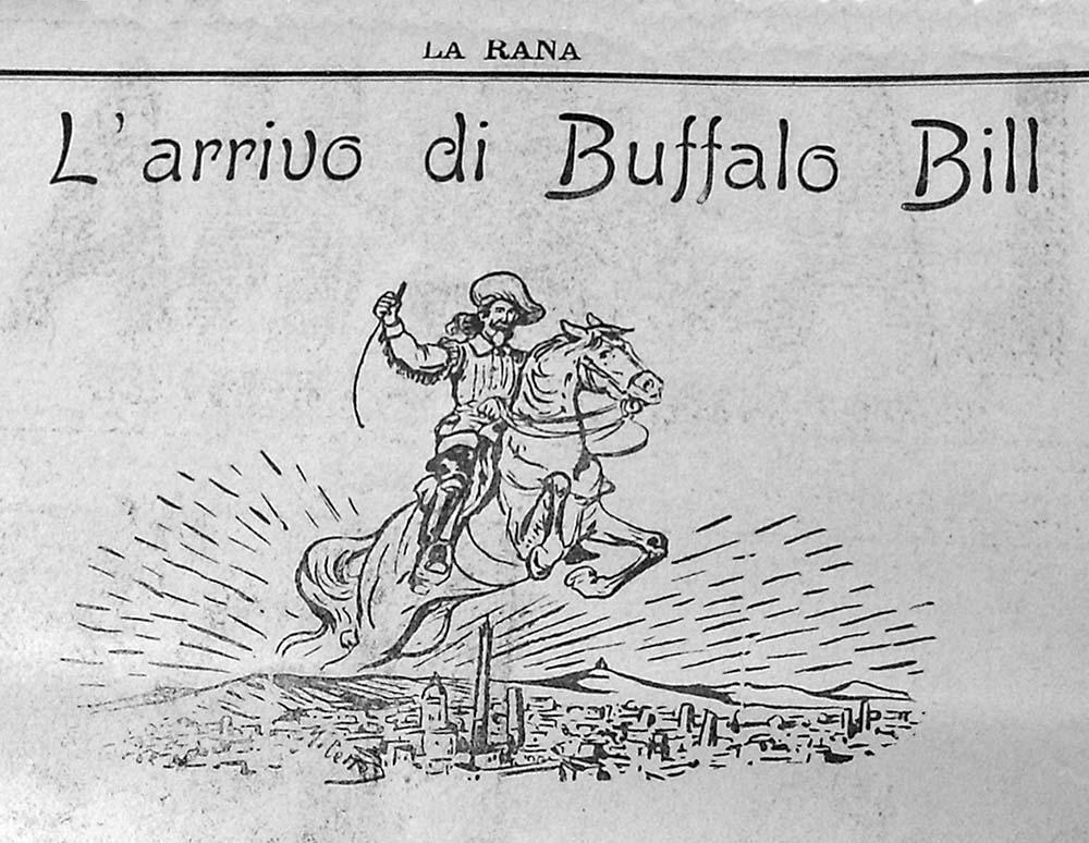 """Buffalo Bill's Arrival,"" a poem in ""La Rana,"" March 30–31, 1906."