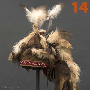 14 Highlight: NA. 205.109 buffalo horn bonnet, thumbnail