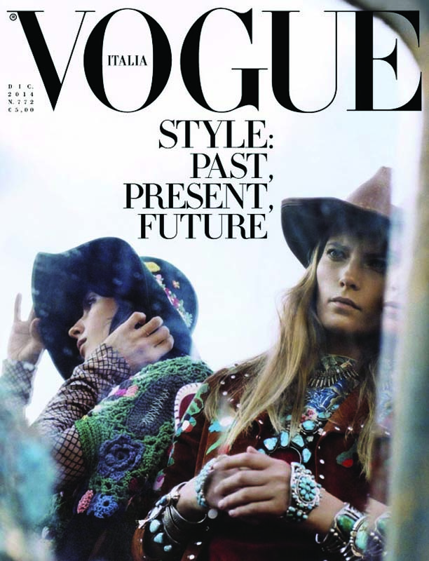 Cover of Vogue Italy, December 2014.