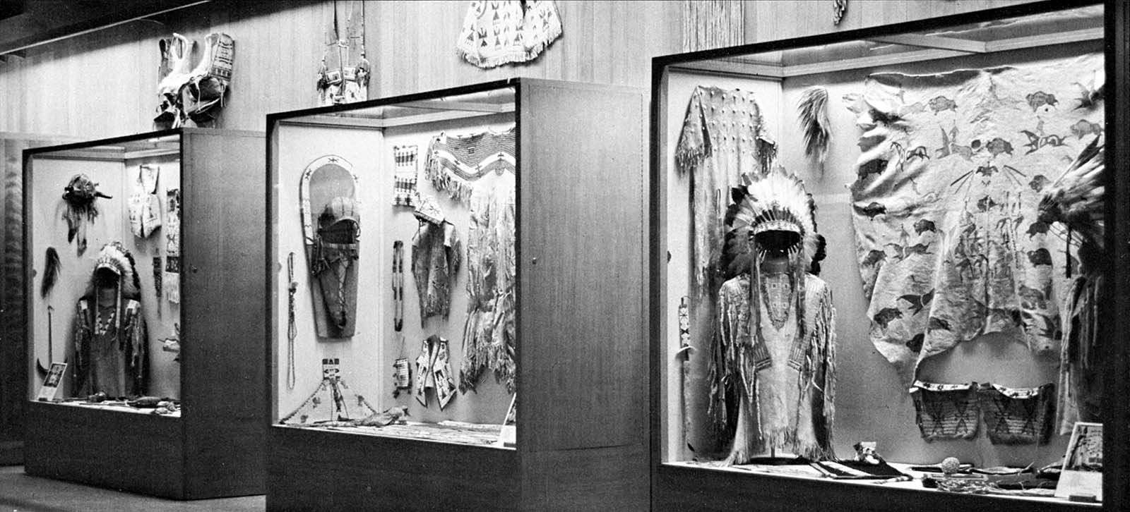 Fig. 3: Plains Indian Museum installation, 1969.