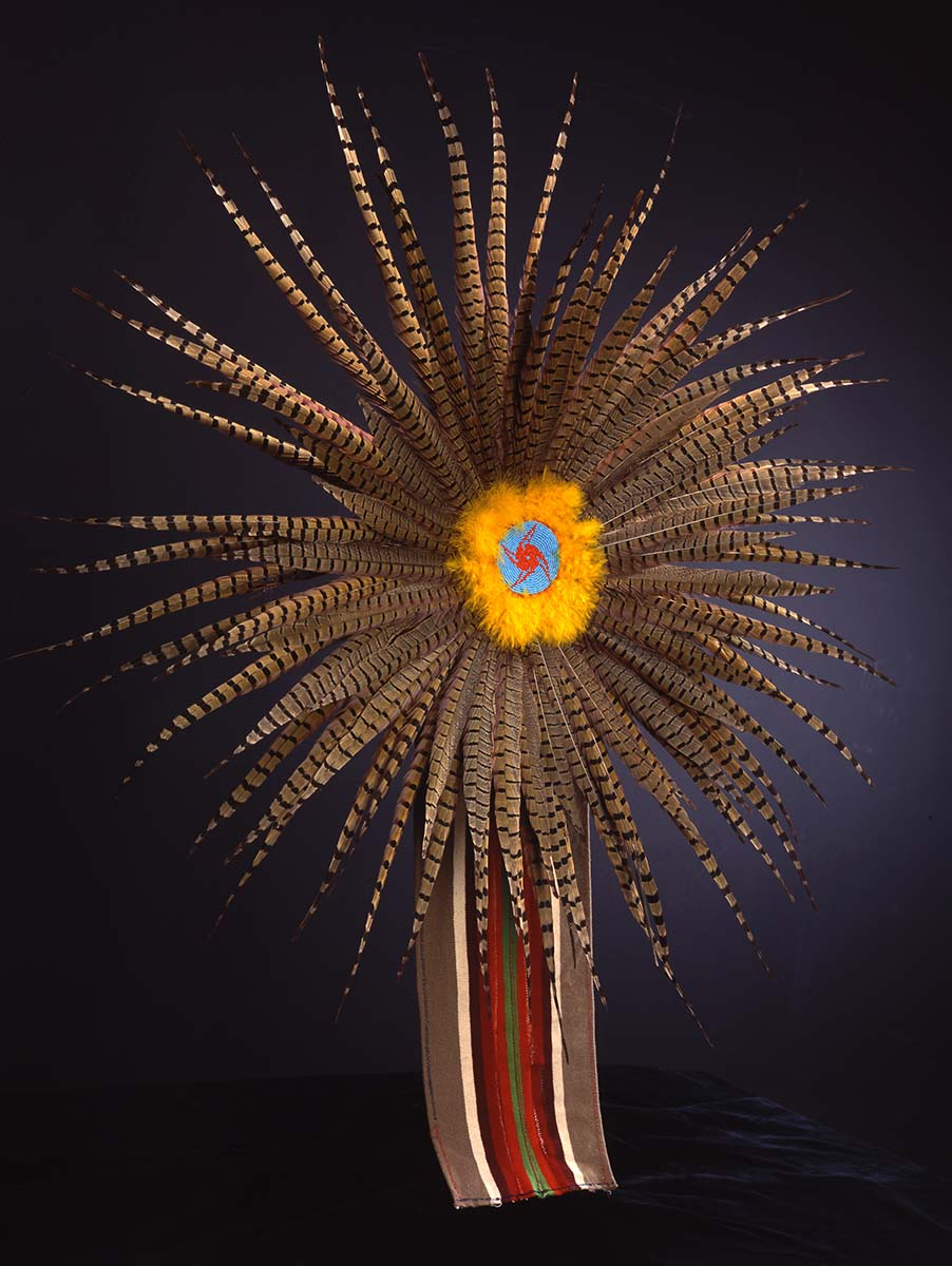 Feather dance bustle, ca. 1987. Sioux, Canada. NA.203.795