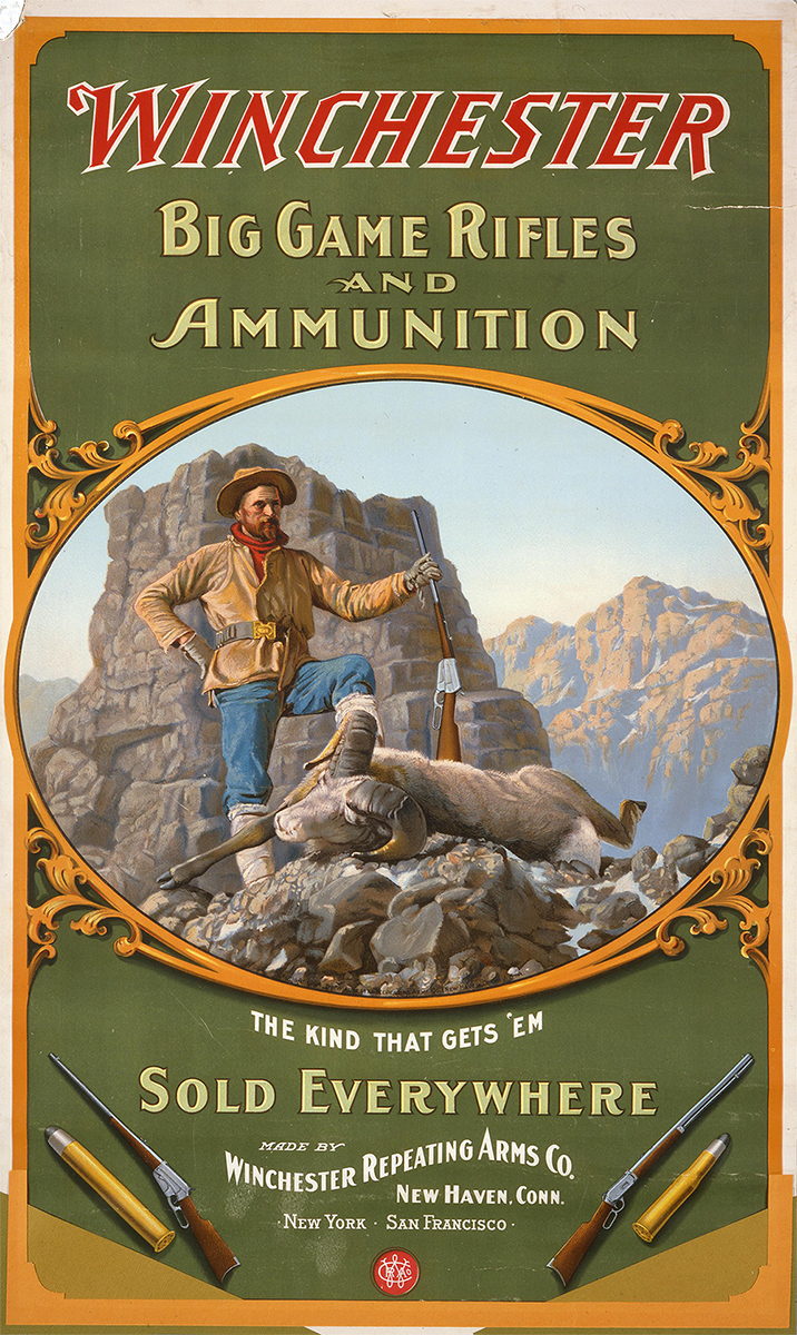 Poster, 1904. Gift of Olin Corporation, Winchester Arms Collection.