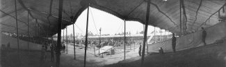 Buffalo Bill's Wild West arena. MS 6 William F. Cody Collection, McCracken Research Library. P.6.0177.2