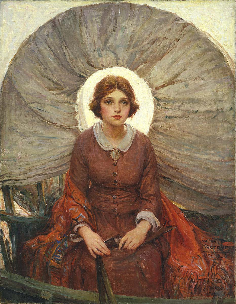 """W.H.D. Koerner (1878-1938). """"Madonna of the Prairie,"""" 1921. Oil on canvas, 37 x 28.75 inches. Museum purchase. 25.77"""