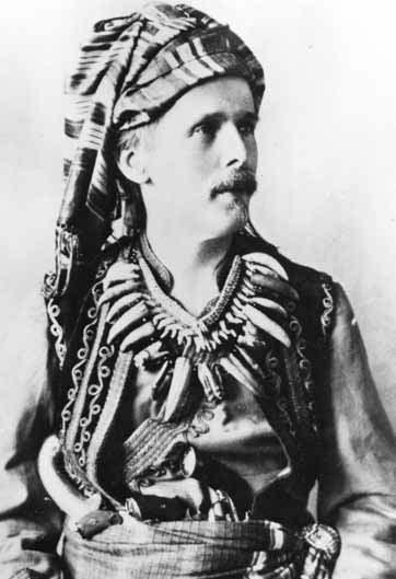 """Karl May as Kara Ben Nemsi (""""Karl, son of the Germans""""), 1896. Karl May Museum photo."""