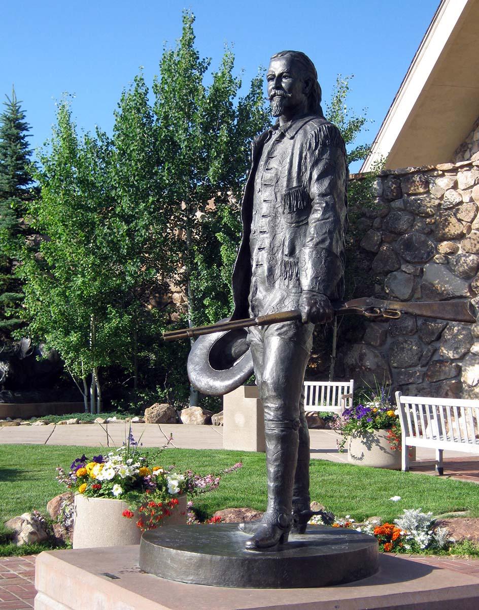 Bob Scriver (1914-1999). Buffalo Bill - Plainsman, 1976. Cast by Modern Art Foundry, N.Y. Bronze, 86.5 x 62 x 50.25 inches. 12.77