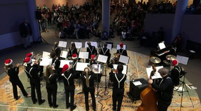 Cody High School's Jazz Band performs at a past Holiday Open House.