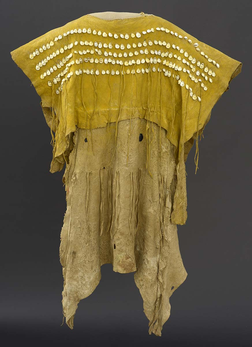Dress, 1890. Kiowa. Paul Dyck Plains Indian Buffalo Culture Collection, acquired through the generosity of the Dyck family and additional gifts of the Nielson Family and the Estate of Margaret S. Coe. NA.202.1285
