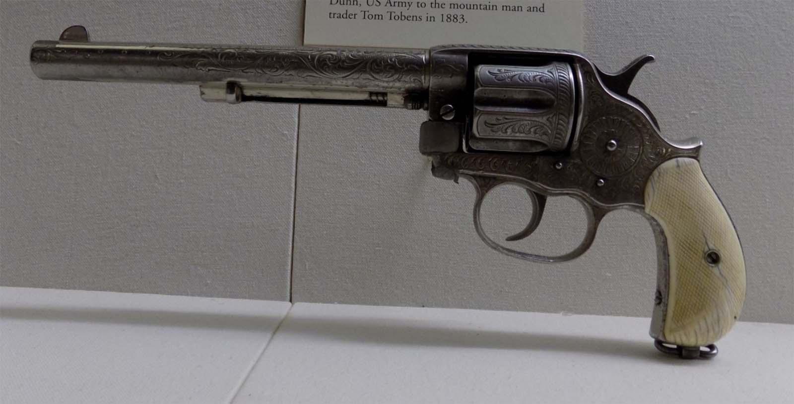 1887 Frontier Revolver presented to Tom Tobin. 2003.10.1