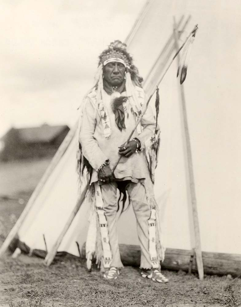 Boy Chief, 1920. MS 320 Paul Dyck Plains Indian Buffalo Culture Collection. McCracken Research Library. P.320.018