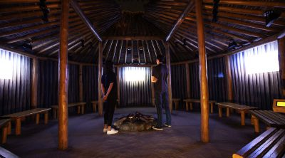 Plains Indian Museum earth lodge