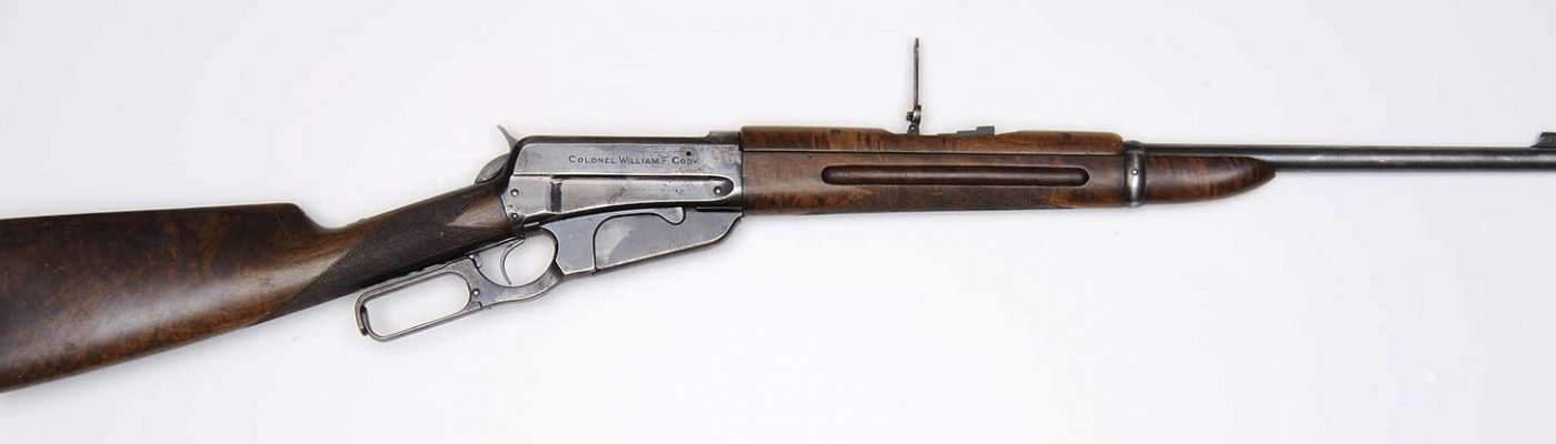 Buffalo Bill's Winchester carbine. Gift of Mrs. George T. Beck. 1.69.369