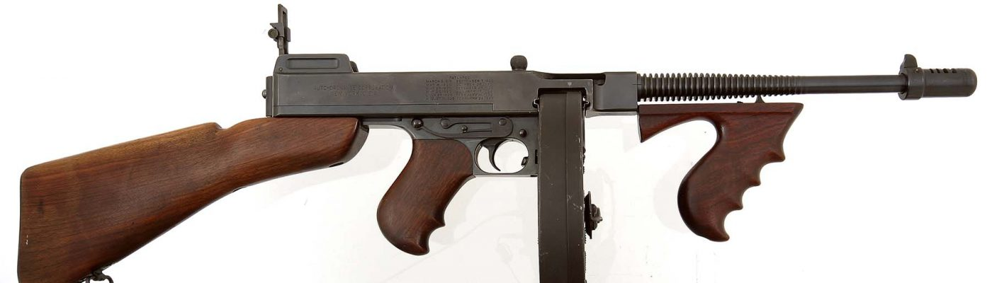 Thompson Submachine Gun. Gift of Olin Corporation, Winchester Arms Collection. 1988.8.2609